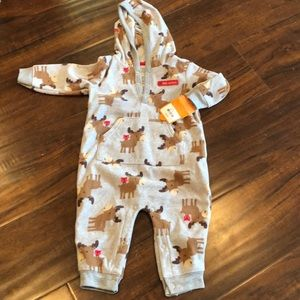 Carter's fleece outfit with moose print